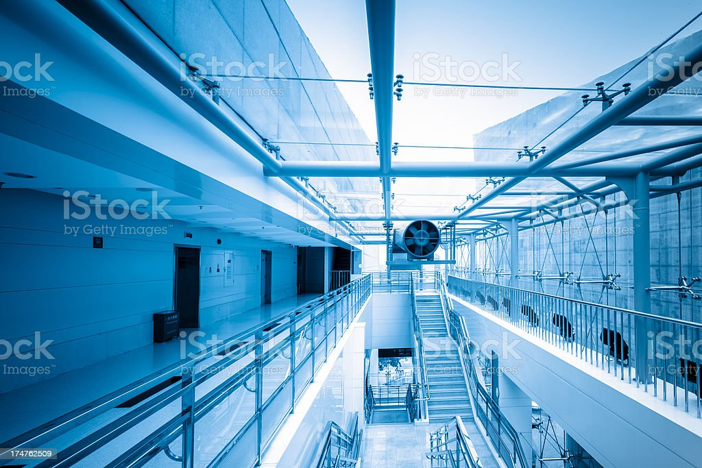 corridor interior of empty office building stock photo