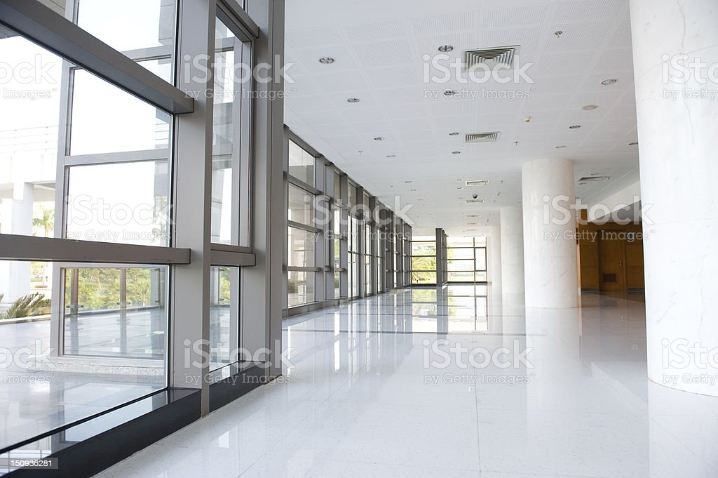 corridor of the office building royalty-free stock photo