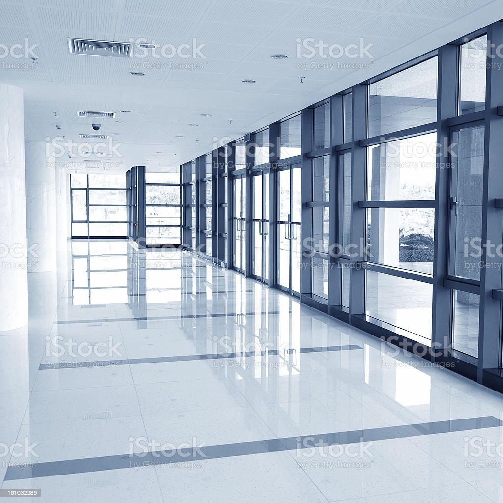 corridor of the office building stock photo