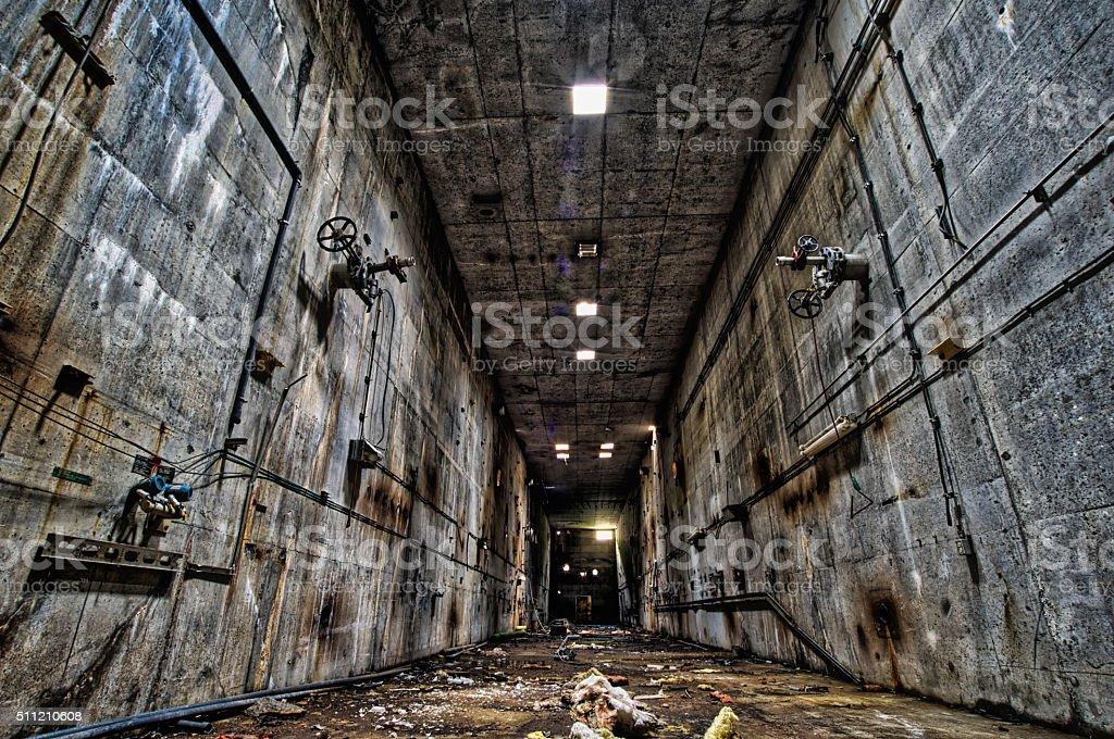 Corridor of the Titans stock photo