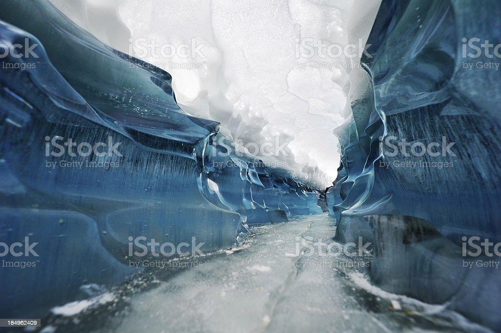 Corridor Through The Glacier royalty-free stock photo