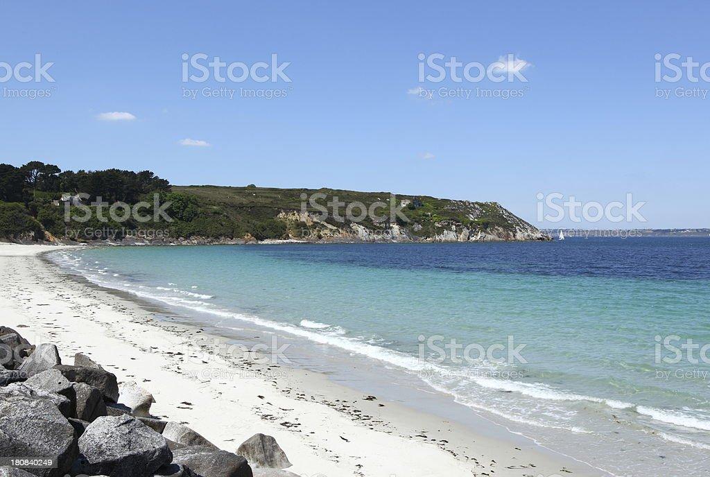 Corréjou beach stock photo