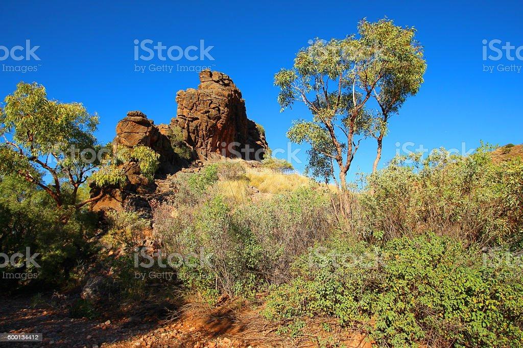 Corroboree Rock in MacDonnell Ranges, Australia stock photo