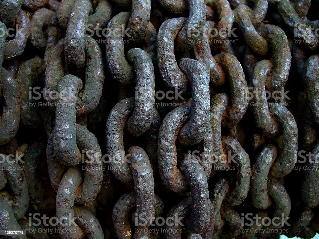 Corroded chains royalty-free stock photo