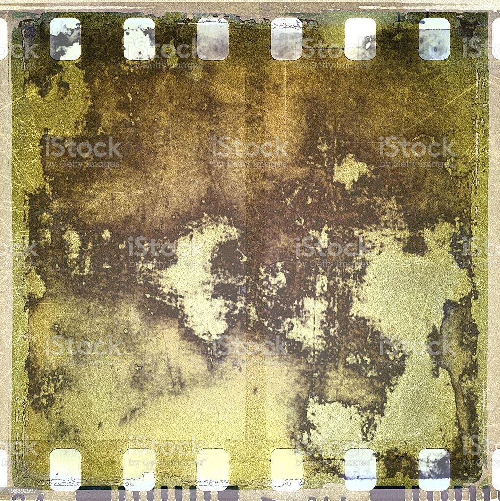 Corroded film strip frame royalty-free stock photo