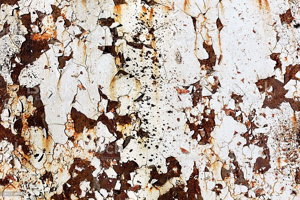 Corroded white metal background stock photo