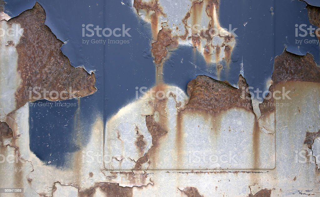 corrosion and paint royalty-free stock photo