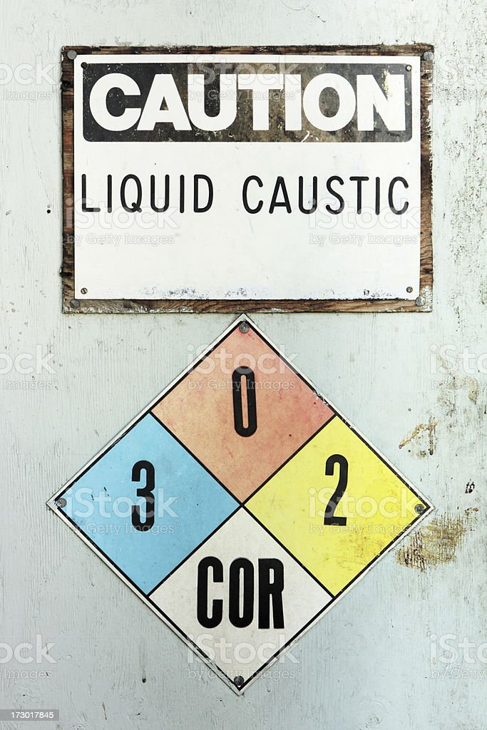 Corrosive Chemical Industrial Hazard Sign royalty-free stock photo