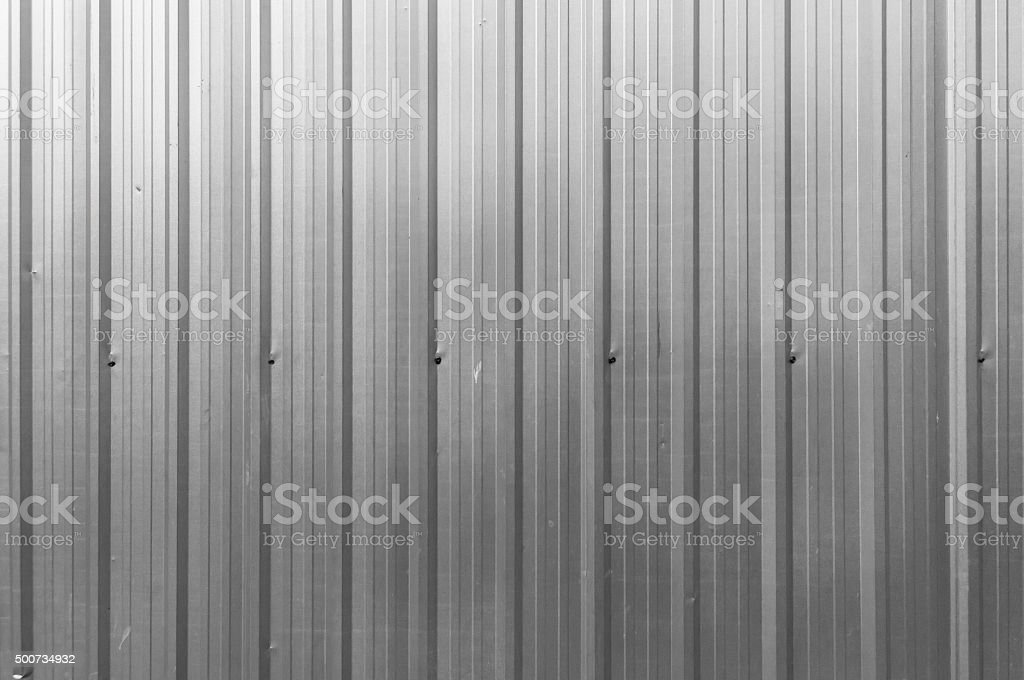 Corrugated Aluminium metal texture surface stock photo