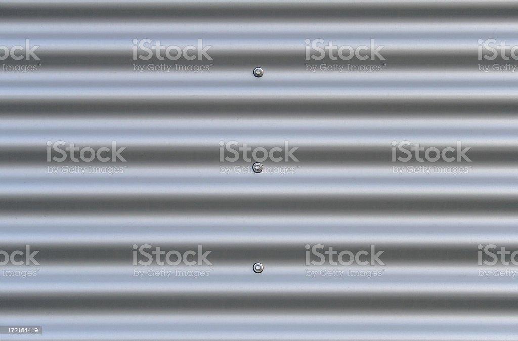 Corrugated aluminium stock photo