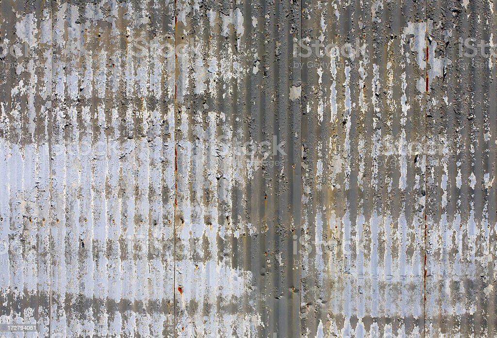 Corrugated Aluminum Shed Background (XL) royalty-free stock photo