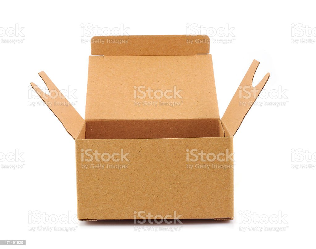Corrugated Box with Path royalty-free stock photo