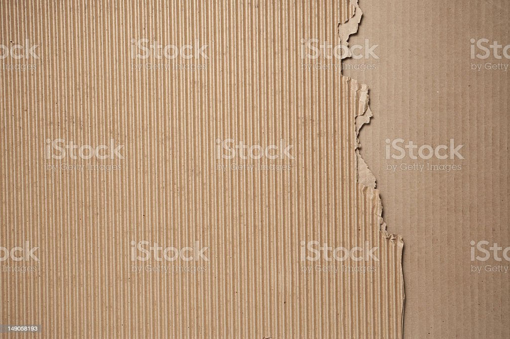 Corrugated cardboard background texture pattern royalty-free stock photo
