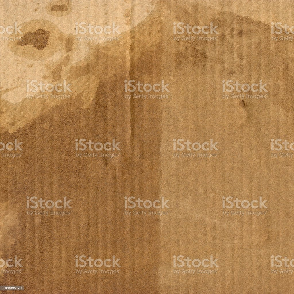 Corrugated Cardboard High Resolution Mottled Grunge Texture royalty-free stock photo