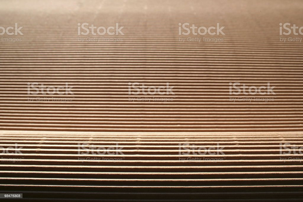 Corrugated cardboard perspective royalty-free stock photo