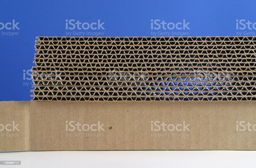 Corrugated Cardboard Stacked royalty-free stock photo
