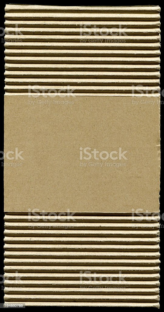 Corrugated cardboard texture (XXXL) stock photo