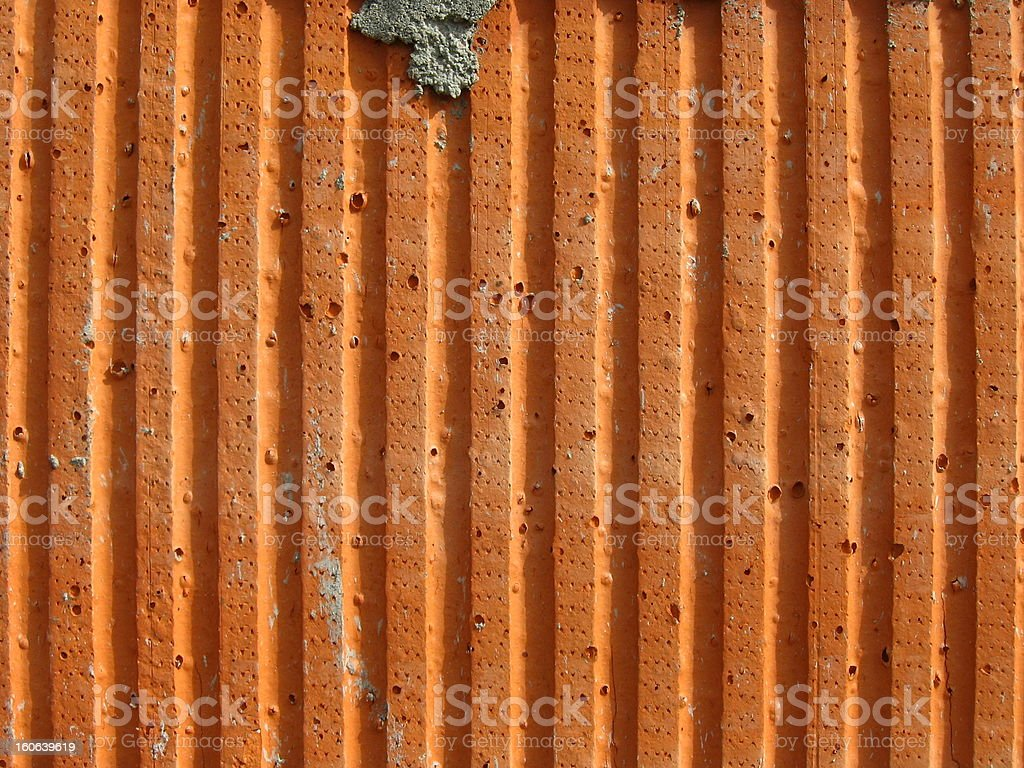 Corrugated concrete wall royalty-free stock photo