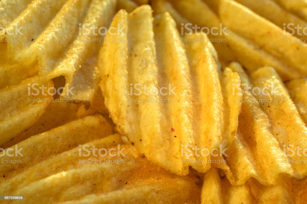 Corrugated crunch posted a closeup in the background stock photo