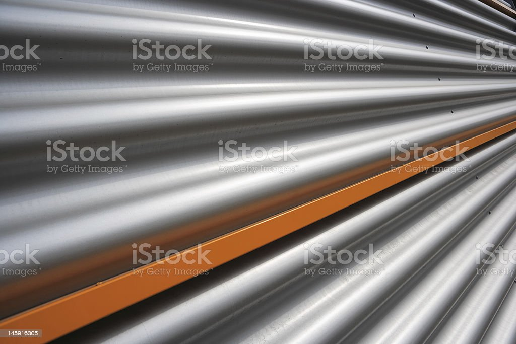 corrugated facade royalty-free stock photo