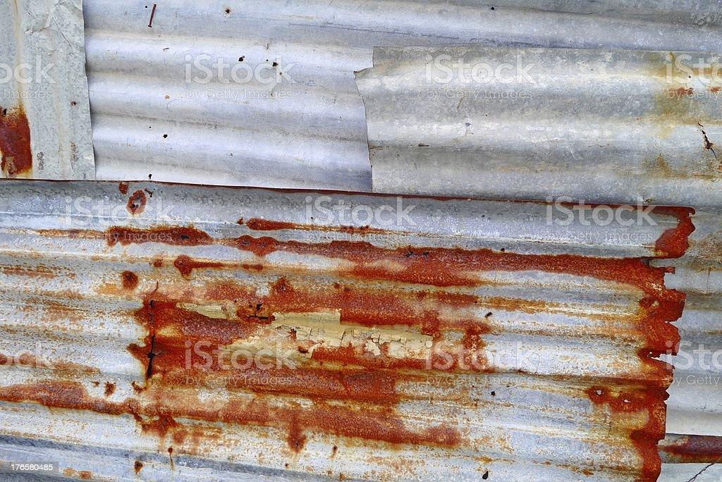 Corrugated galvanised iron - CGI royalty-free stock photo