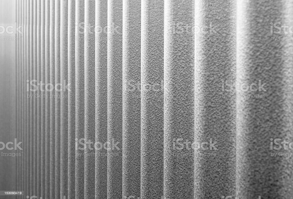 Corrugated Infinity BW stock photo