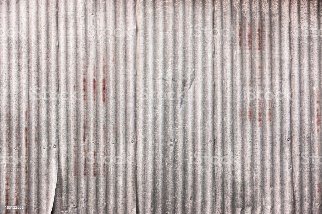 Corrugated iron frame background stock photo