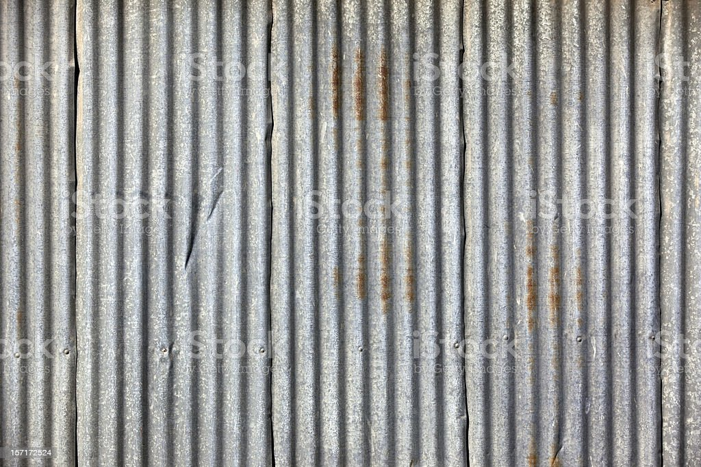 Corrugated iron frame background with lines stock photo