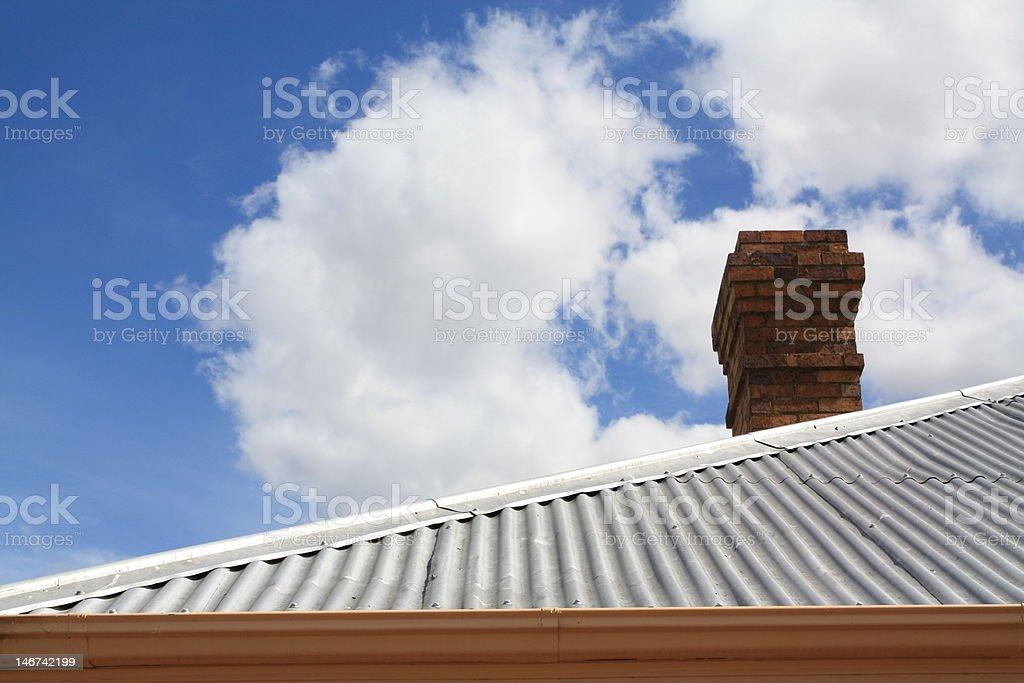 Corrugated Iron Roof royalty-free stock photo