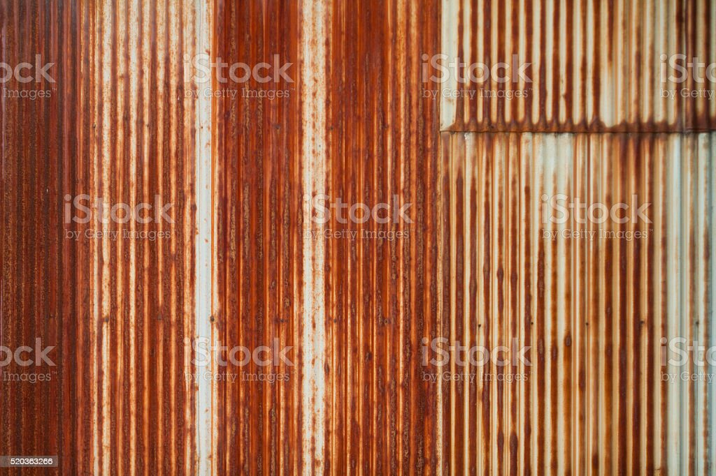 Corrugated Iron, Rusted Iron Background stock photo