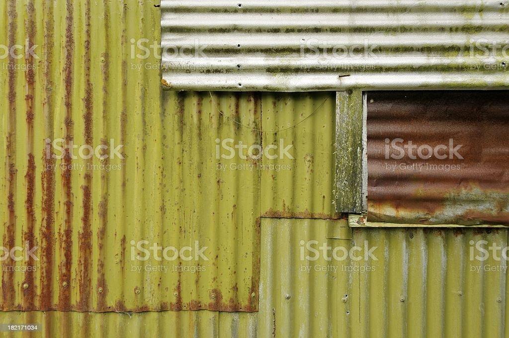 Corrugated Iron Shed royalty-free stock photo