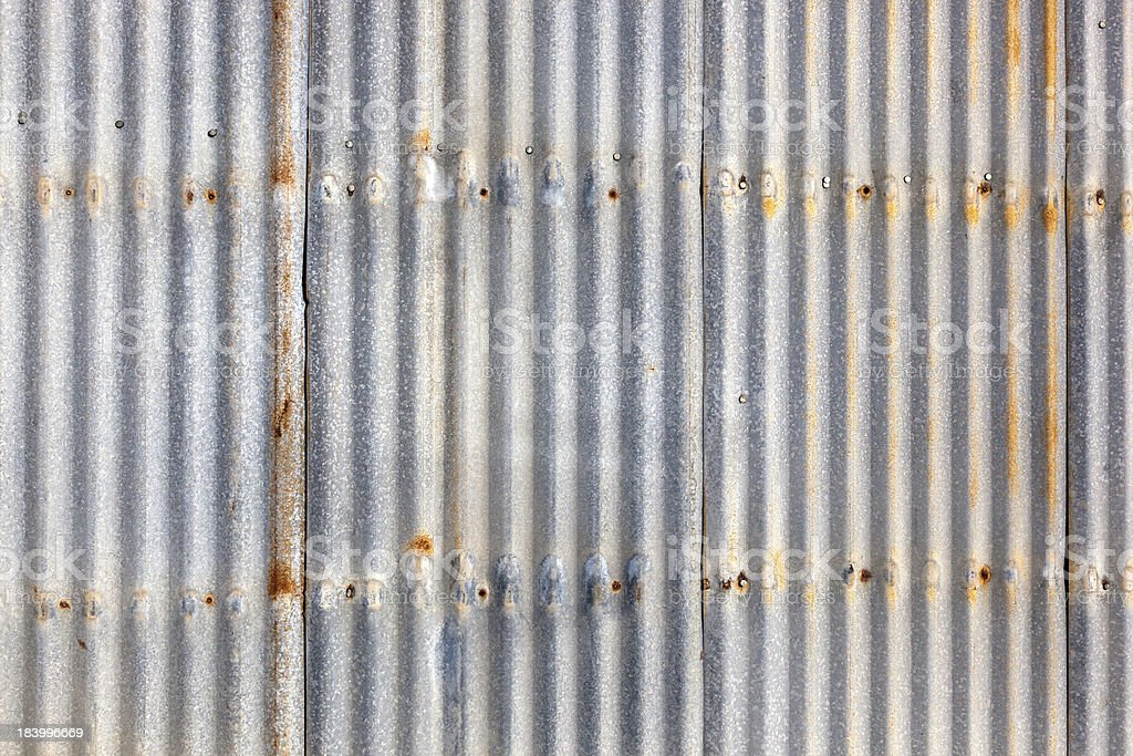 Corrugated Iron Siding stock photo