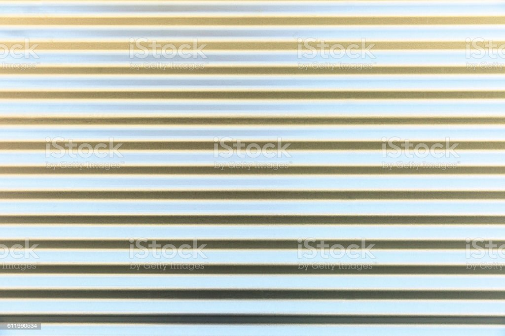 Corrugated iron wall, background with copy space stock photo