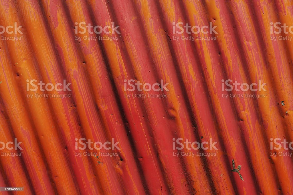 Corrugated Iron Wall Construction Material royalty-free stock photo