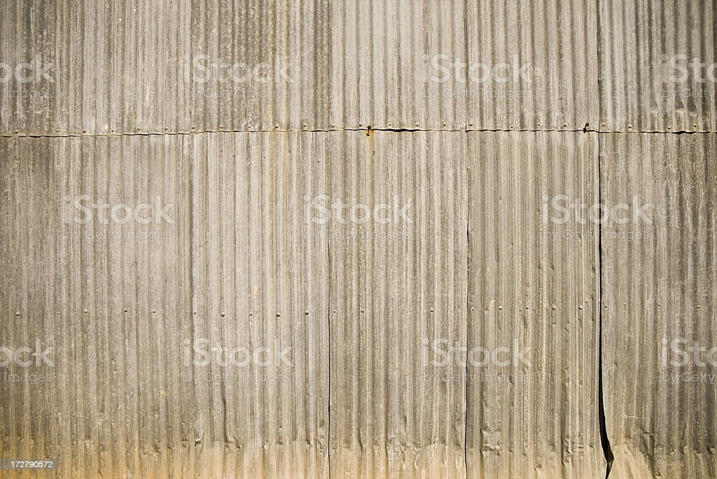Corrugated Iron Wall royalty-free stock photo