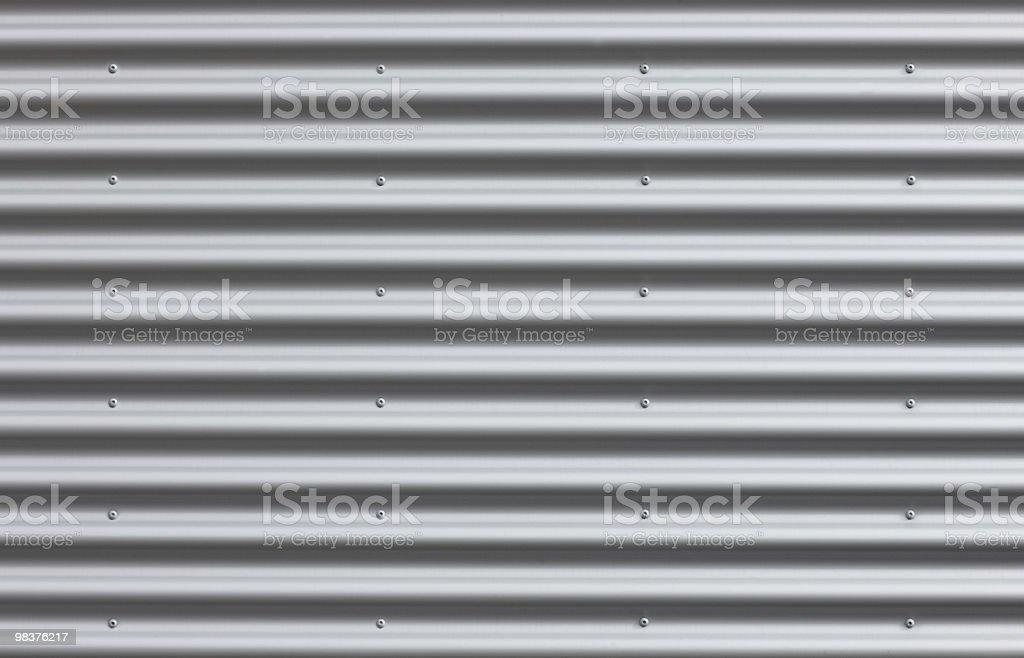 Corrugated Iron With Blanks stock photo