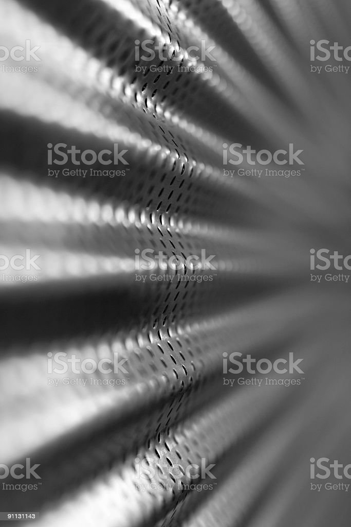 Corrugated Metal Abstract stock photo