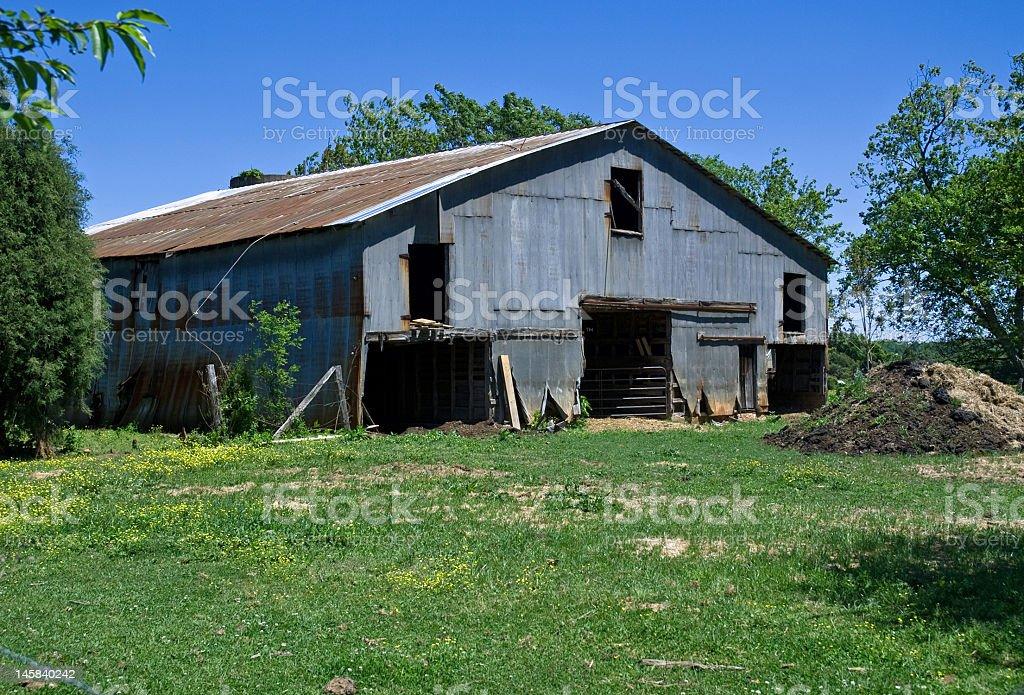 Corrugated Metal Barn royalty-free stock photo