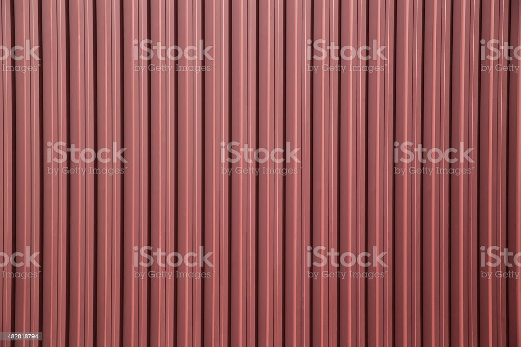 corrugated metal fence as a background stock photo