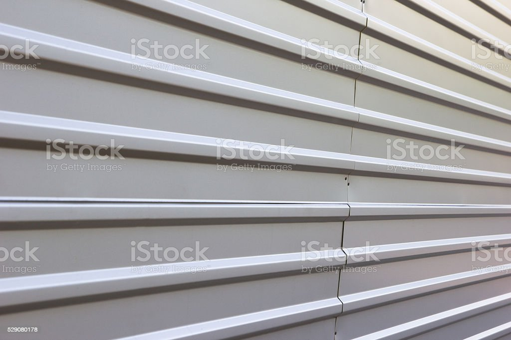 corrugated metal fence background stock photo