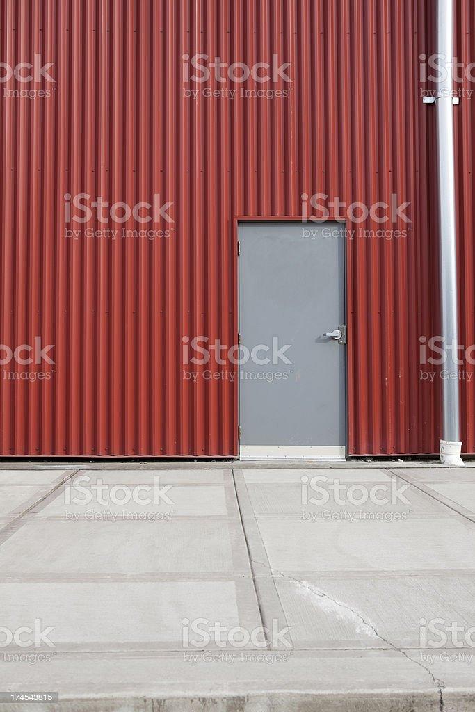 Corrugated Metal Industrial Warehouse XXXL royalty-free stock photo