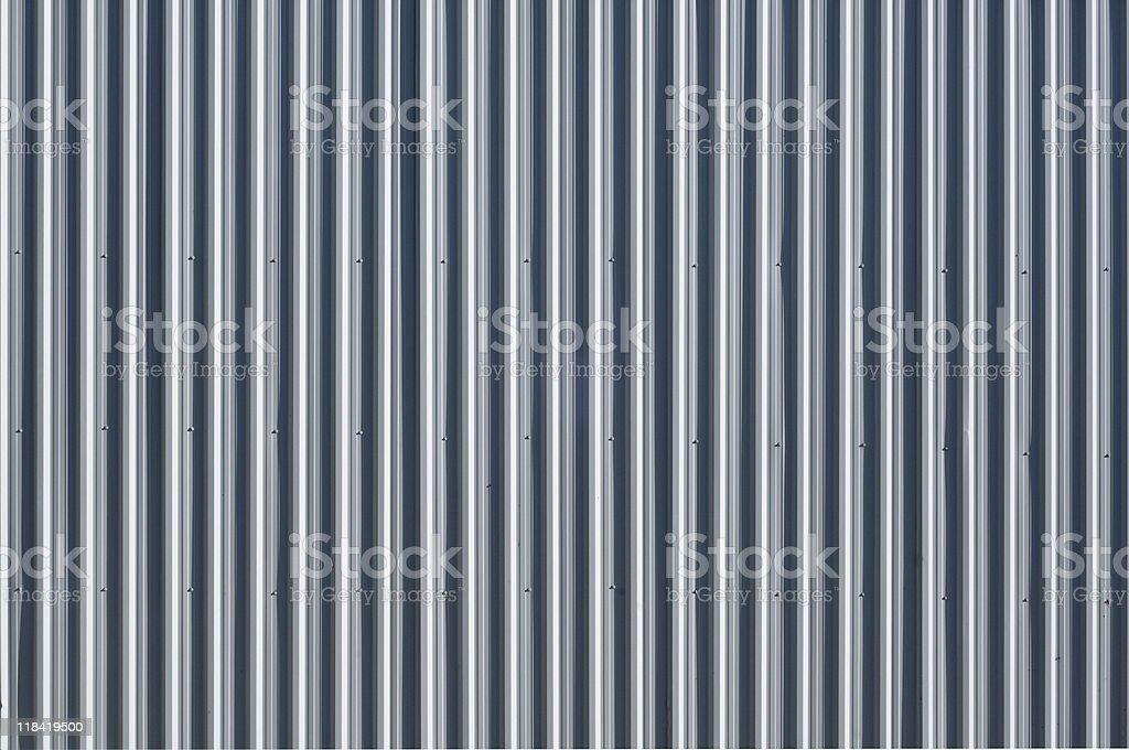 Corrugated metal - pattern / background royalty-free stock photo