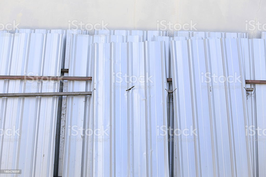 corrugated metal roof for factory royalty-free stock photo