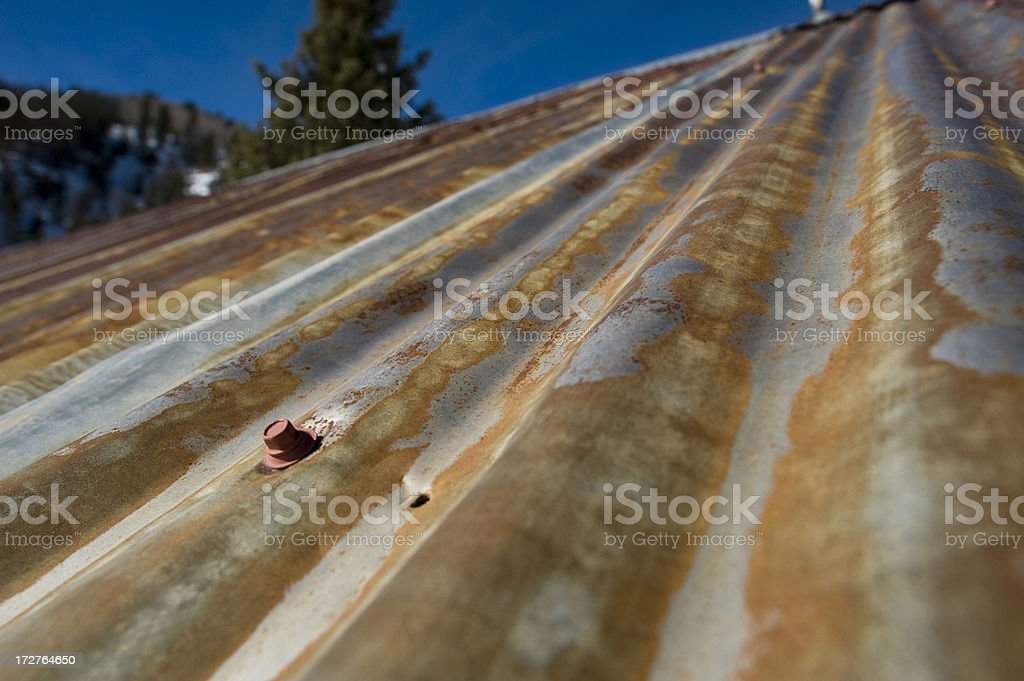 Corrugated Metal Roof royalty-free stock photo
