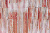 Corrugated metal rusty roof background