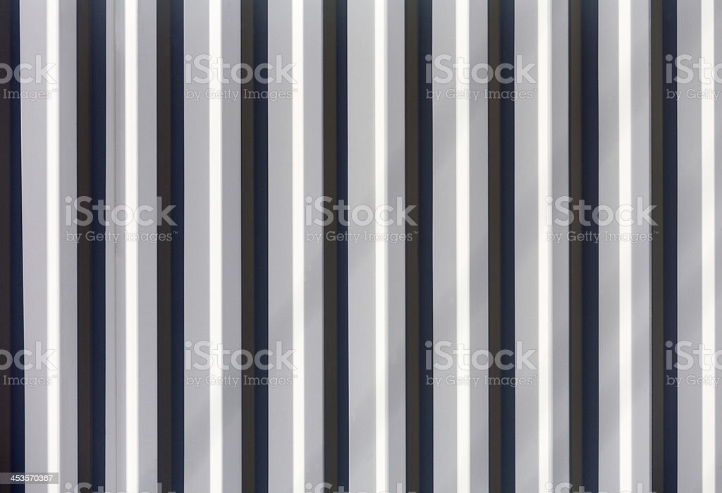 Corrugated metal siding royalty-free stock photo