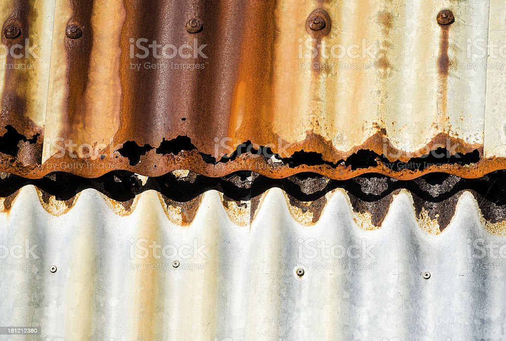 corrugated metal texture royalty-free stock photo