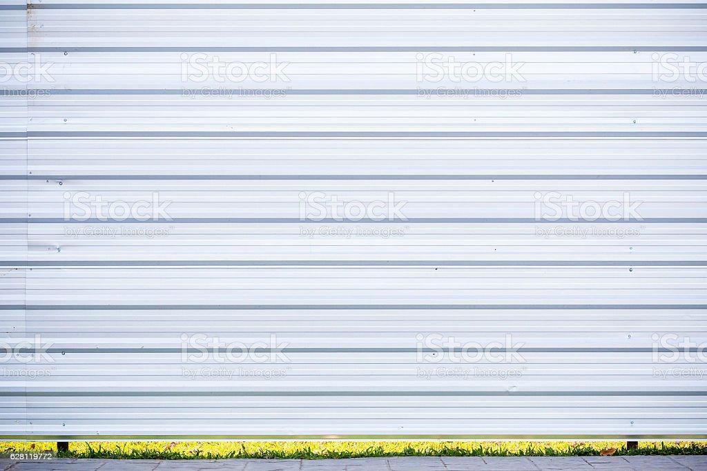 Corrugated metal texture stock photo