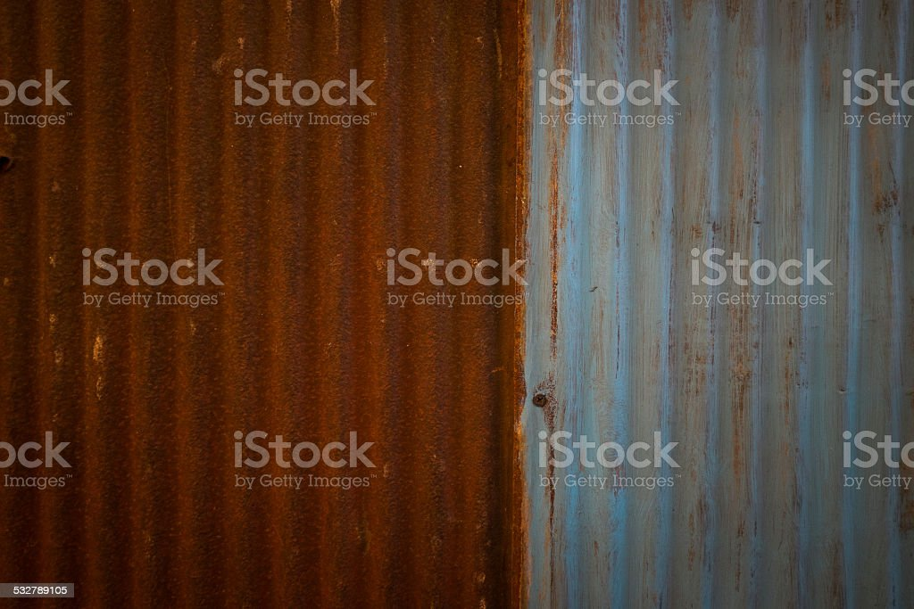 Corrugated Metal Wall Background stock photo