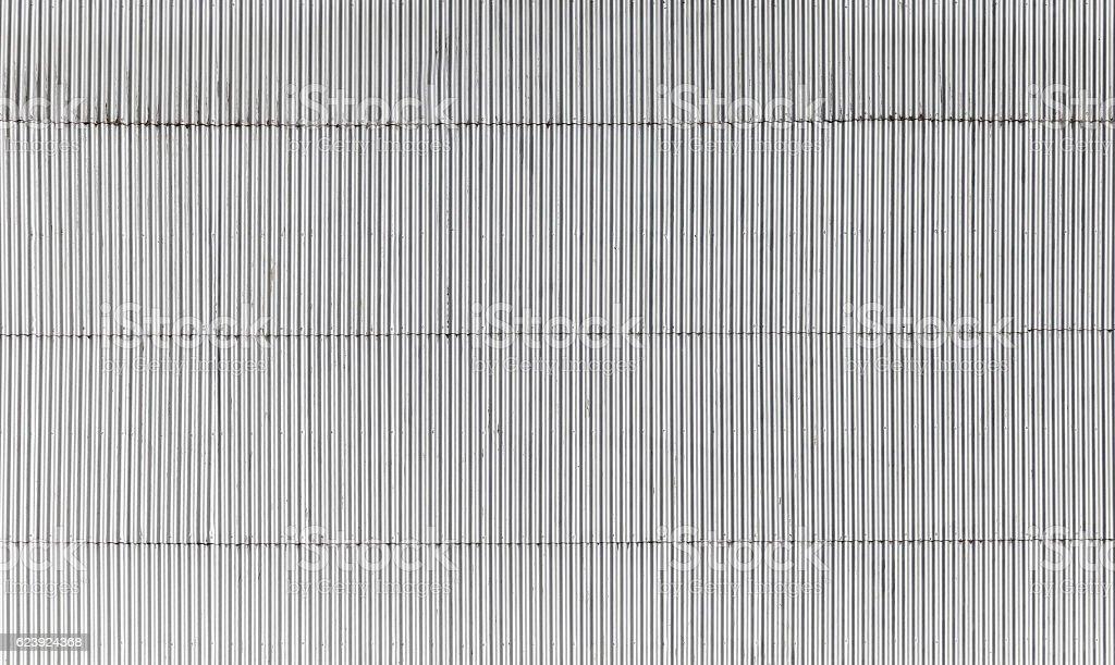 Corrugated metal wall flat texture stock photo